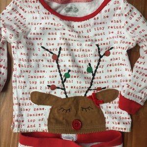 Mud Pie reindeer Christmas pajamas